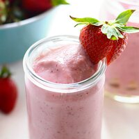 Pineapple Upside Down Strawberry Smoothie