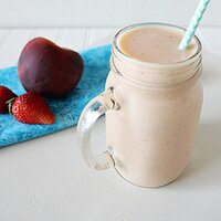 Strawberry Peach Smoothie: