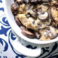 slow cooker portabella mushroom chicken