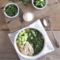 slow cooker breakfast chicken soup