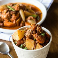 slow cooker korean spicy chicken and potatoes