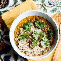 slow cooker red lentil dal