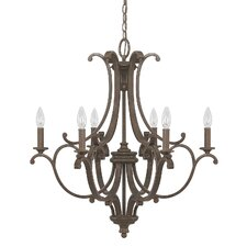 Harrison 6 Light Candle Chandelier