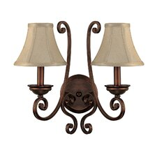 Cumberland 2 Light Wall Sconce with Shade
