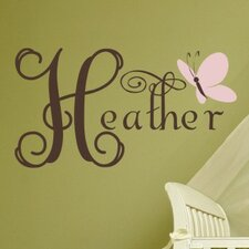 Personalized Butterfly Dreams Wall Decal