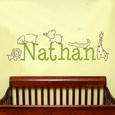 Personalized Jungle Animals Wall Decal