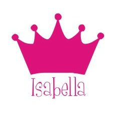 Personalized Princess Crown Wall Decal