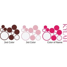 Personalized Girls' Dots and Circles Wall Decal