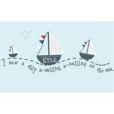 Personalized Sail Away Wall Mural