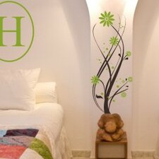 Intertwined Flower Vine Wall Decal
