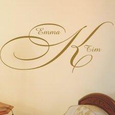 Personalized Elegant Monogram Wall Decal
