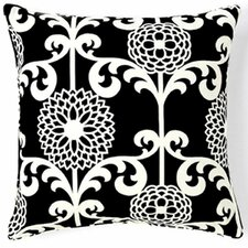 Floret Silk Throw Pillow