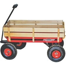 Big Red Wagon/Trailer with Wood Panels