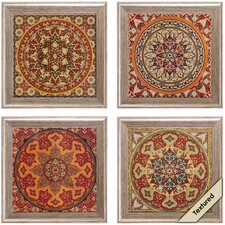 Bukhara 4 Piece Framed Graphic Art Set
