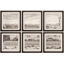 Citte 6 Piece Framed Painting Print Set