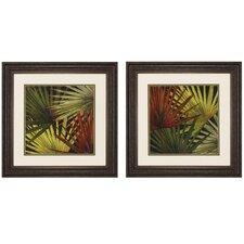 New Organic 2 Piece Framed Painting Print Set