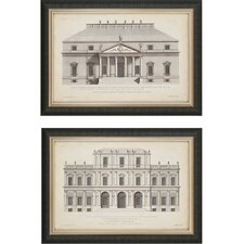 Vintage FacadeI by Hulsbergh 2 Piece Framed Graphic Art Set (Set of 2)