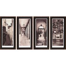 Espana by Blaustein 4 Piece Framed Painting Print Set