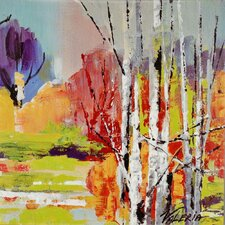 Into the Woods II by Mravyan Painting Print on Wrapped Canvas