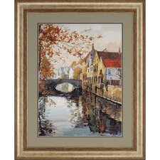 Brugge Reflections by Schaar Framed Original Painting