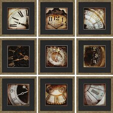 Today 9 Piece Framed Photographic Print Set