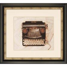 Erika Typewriter Framed Graphic Art