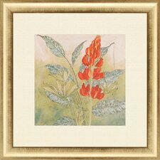 Crimson Tropical II Framed Painting Print