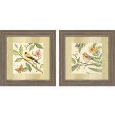 Flora and Fauna II 2 Piece Framed Painting Print Set