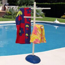 Free Standing Poolside Towel Stand