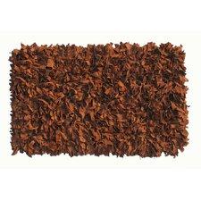Thalassa Premium Leather Brown Rug