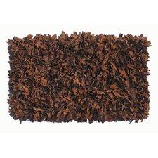Thalassa Premium Leather Soft Brown Rug