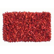Thalassa Premium Leather Dark Red Rug