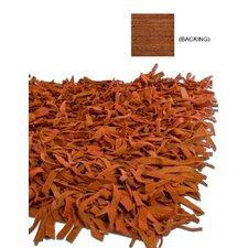 Thalassa Premium Leather Terracotta Rug
