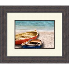 Boats A Framed Painting Print