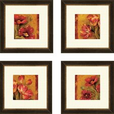 Pandoras Bouquet Canvas Art (Set of 4)