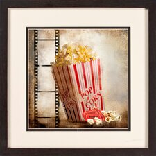 Popcorn Giclée Framed Graphic Art on Canvas