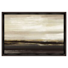 Neutral Metallic with Floater Framed on Canvas