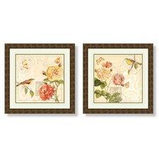 Floral 2 Piece Framed Graphic Art Set