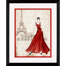 Dress I Framed Graphic Art in Red