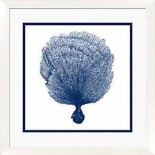 Coral I Framed Graphic Art in Blue