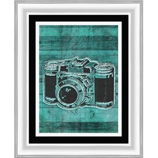 Retro Camera Giclee Framed Graphic Art