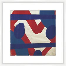Red and Blue Pattern I Framed Graphic Art