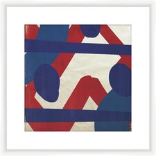 Red and Blue Pattern II Framed Graphic Art