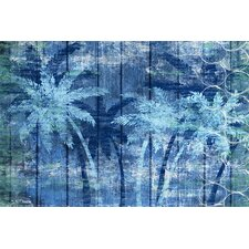 Organic Hue Palm Painting Print on Wrapped Canvas