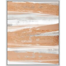 Rose and Gold II Floater Framed Painting Print on Wrapped Canvas