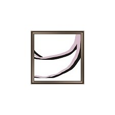 Pink and Black Lines II Framed Graphic Art