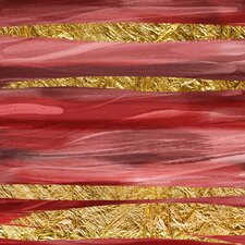 Crimson and Gold I Graphic Art on Canvas