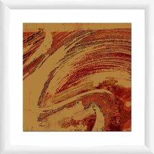 Crimson Wave II Framed Graphic Art