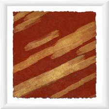 Crimson Movement II Framed Graphic Art