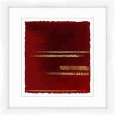 Crimson Stripes I Framed Graphic Art